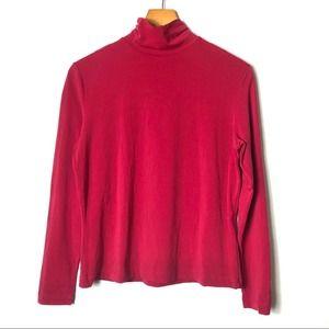 ST. JOHN Sport Mock Neck Long Sleeve Top Shirt